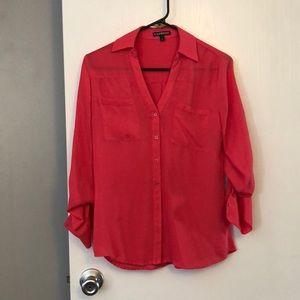 Hot pink button up from Express!